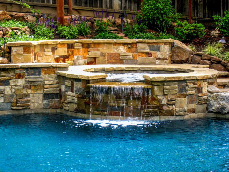 Waterfall Hot Tub